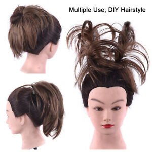 Messy Ponytail Clip in Hairpiece Pigtail Hair Comb Bun Synthetic Hair Extension