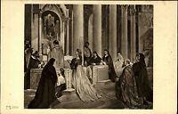 """Künstlerkarte ~1910 Art Postcard Anselm Feuerbach """"Laura in der Kirche"""" Kunst-AK"""