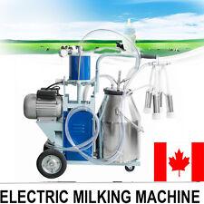 CA Electric Milking Machine Milker For Dairy Farm Cows Vacumm Piston Pump 25L