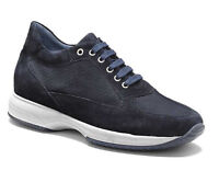 KEYS 3001 BLU scarpe uomo sneakers pelle camoscio tessuto casual interactive