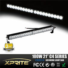 Xprite C4 Single Row 21 inch 100W 5W CREE LED 3D Lens OffRoad Spot Light Bar