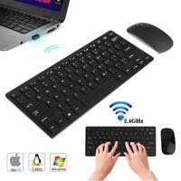 2.4GHz Souris sans fil USB Clavier Combo Ultra Mince Set Set pour PC portable