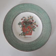 "WEDGWOOD SARAH'S GARDEN FRAGARIA VESCA 8 1/4"" SALAD PLATE (S)  GREEN ENGLAND"