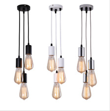 3-Heads Vintage Industrial Retro Loft Glass Ceiling Lamp Shade Pendant Light
