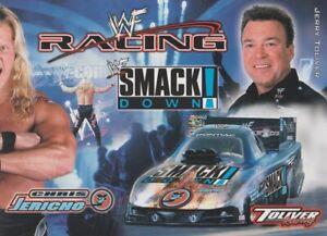 "2001 Jerry Toliver ""Chris Jericho"" WWF WWE Wrestling Firebird FC NHRA postcard"