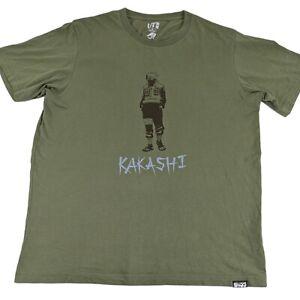 Kakashi Sensei Naruto Anime T Shirt UT Brand Green Size Medium Mens
