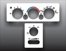 1998-2003 Pontiac Grand Prix Analog White Heater Control Overlay HVAC