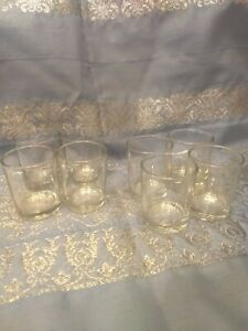 Votive Tea Light Glass Candle Holders - Clear (2.5 Inches) (8 Pack)