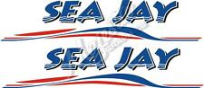 SEA JAY - 600mm x 130mm X 2 - BOAT DECALS