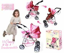 Pram Dolls GRANDI Stroller for dolls Convertible game little girl