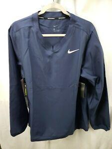 NWT Mens NIKE BSBL Baseball Windshirt Jacket, Medium, Pullover Windbreaker Blue