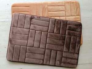 40*60cm Non-Slip Flannel Bathroom Bath Rug Foam Pad Mat Shower Floor Carpet