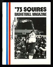 DR. J, JULIUS ERVING~ABA PROGRAM~INDIANA PACERS~BERNIE WILLIAMS AUTOGRAPH~1973