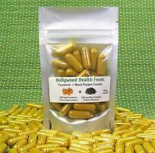 Organic Turmeric and Black Pepper  120 Capsules 700 mg Digestion Health