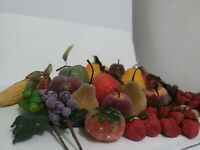 Jeweled Vintage Fruit Lot of 50 Plus. Not push Pin Authentic Vintage ceramic