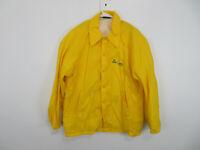 VTG Mens Champion Rochester NY Tag Windbreaker Snap Jacket Yellow Size Medium