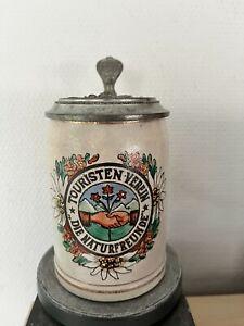 Sehr alter Bierkrug, 1/2 Liter, Touristen Verein die Naturfreunde, München, 1905
