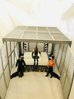 WWE WWF Wrestling The Cell Cage / Hell In a Cell Playset 21x21x13 Inches