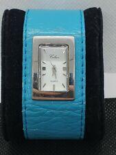 Montre Celsior à quartz bracelet cuir bleu RefN740