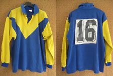 Maillot rugby Couleur Clermont Ferrand porté #16 Numero cousu vintage jersey - M