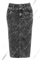 New Denim Pencil Skirt Womens Tube Skirt Stretch Ladies Blue Size 8 10 12 14 16