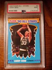 1990 Fleer All-Stars #2 - LARRY BIRD - PSA 9 MINT