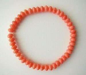 Genuine Coral Gemstones Bead Bracelets.