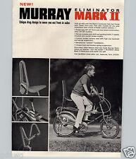 1969 PAPER AD Murray Eliminator Mark II Stick Shift Banana Seat Sissy Bar Horn