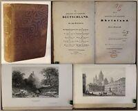 Simrock Das malerische und romantische Rheinland um 1840 mit Stahlstichen xz