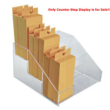 """New Clear 3-Tier, 9-Compartment Counter Step Display 12""""W x 11.75""""D x 7.125""""H"""