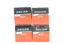 4 X KT77 GENALEX GOLD LION 1970´S. GENUINE TUBES NOS/NIB OOGETTER, MATCHED QUAD