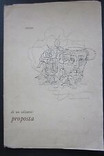 1973 DI UN SOLITARIO: PROPOSTA album 30 disegni Duccio Riccardo Rossi Mondovì