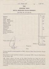 Royal Artillery Range Hebrides – Officers Mess Bill – 1975