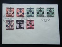 Germany Nazi 1940 Stamps FDC Swastika Eagle Overprint Generalgouvernement WWII T