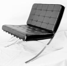 Mid Century Modern Classic Barcelona Style Replica Chair Vintage 1960's