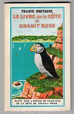 Le livre de la Côte de granit rose Bretagne 1954