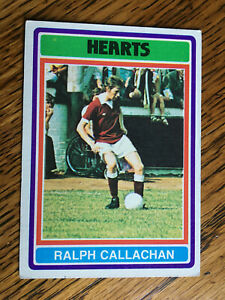 Topps gum Scottish football cards 1976 Hearts Callachan 54