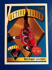 1995-96 Topps Active Scoring Leader #1 Michael Jordan (Chicago Bulls)