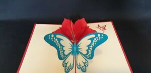 3D Pop up Butterfly with Flowers Card.(Mother's day, Birthday, Get well or any O