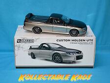 1 18 Holden Custom V8 Ute Silver