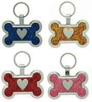 Pet Tag Custom Engraving Bone Heart Dog Tags Id Tag Charm engraved id charm