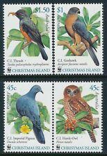 2002 CHRISTMAS ISLAND WWF BIRDS SET OF 4 FINE MINT MNH