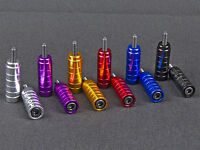 1 PAIRE ALLOY PRO STUNT SCOOTER PEGS WITH HARDENED STEEL AXLE BOLTS 12.9 6mm