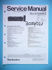 Service Manual-Instructions pour technics su-a700 mk3, original