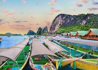 A1 Phuket Island Thailand Poster Art Print 60 x 90cm 180gsm - Boats Gift #16436