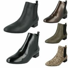 Block Heel Casual Textile Boots for Women