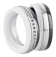 NEU Eheringe Trauringe Verlobungsringe aus Keramik mit Ringe Lasergravur  2844