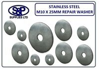 """M10 - (10MM - 3/8"""") X 25MM (1"""") A2 STAINLESS STEEL REPAIR WASHER PENNY WASHER"""