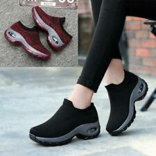 New Womens Slip On Mesh Casual Shoes Breathable Walking Outdoor Running Sneakers