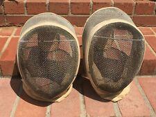 Fabulous Vintage Fencing Mask Helmet Pair